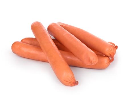 wienie: sausages on a white background