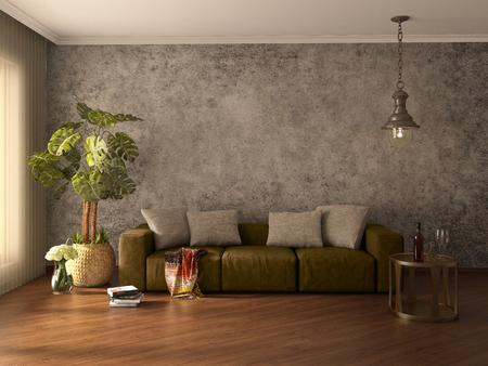 modern interior: Modern interior. 3d illustration Stock Photo