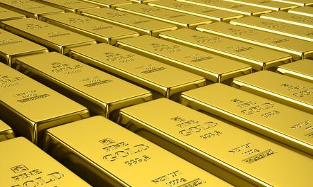 gold bars: Gold bars. 3d illustration