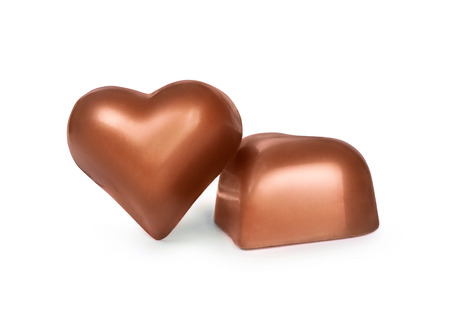 chocolate mousse: chocolate candy in the form of heart