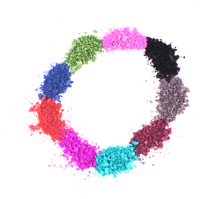 crushed: eye shadow crushed samples Stock Photo
