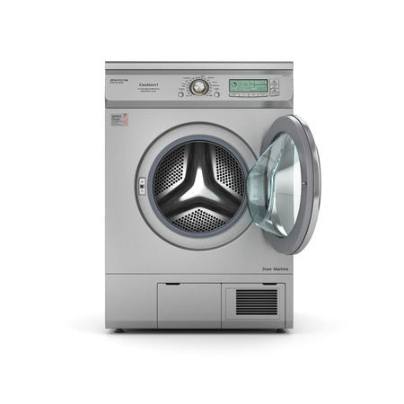 白い背景の上のオープン乾燥機を分離。3 d イラストレーション