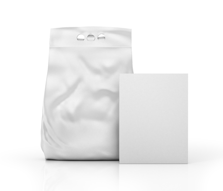 washing powder: White blank packages for washing powder. 3d illustration Stock Photo