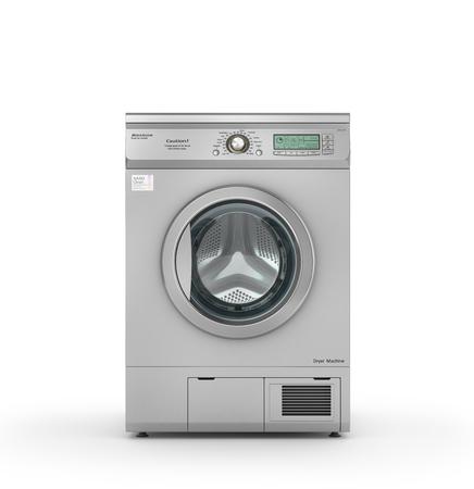 máquina secadora aislados en un fondo blanco. 3d ilustración