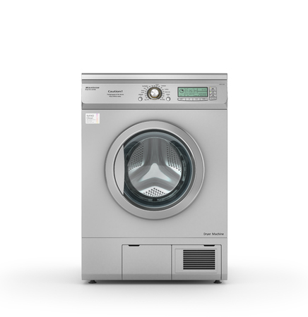Isolated Dryer machine on a white background. 3d illustration
