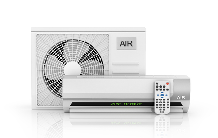 acclimatization: air conditioning isolated on white. 3d illustration Stock Photo