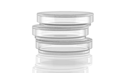 agar: 3D,render,illustration,Petri dish on white background with reflection