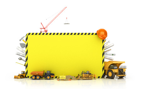 compact track loader: Building concept on a white background.3D illustration Stock Photo