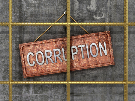 unethical: The fight against corruption. The concept of the fight against corruption. 3D illustration Stock Photo
