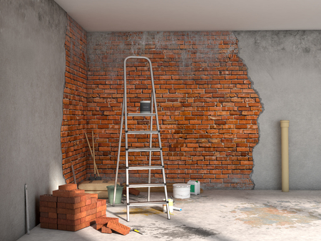 reparaties kamer; 3d illustratie