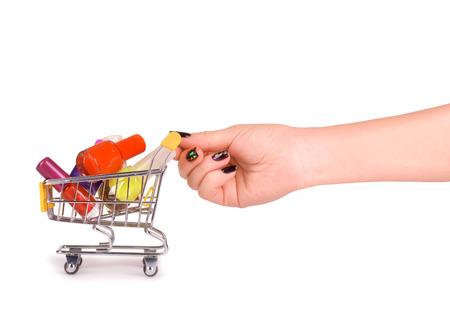 nail polish on the shopping cart