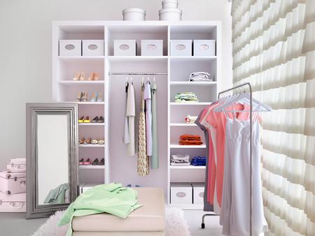 Lichte kleedkamer. 3d illustratie