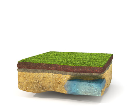 realization: Concept rent, buy and realization.  Piece of earth isolated on a white background. 3d illustration