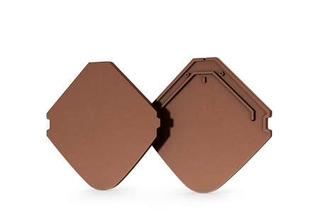 sample of ceramic tiles, isolated on white background. 3D illustration