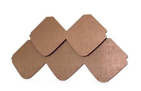 natural drying: sample of ceramic tiles, isolated on white background. 3D illustration