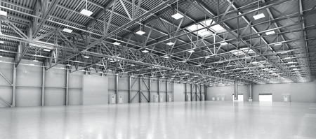 Empty warehouse. 3d illustration Standard-Bild
