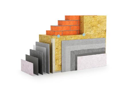 thermal insulation of walls. 3d illustration