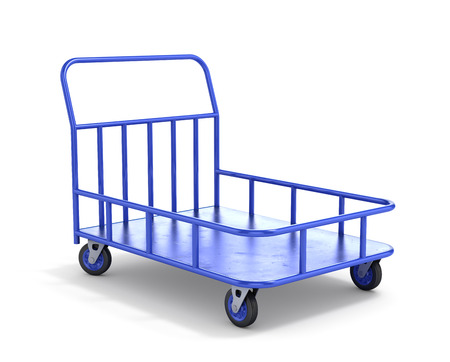 bogie: Transport cart. Industrial trolley. 3d illustration Stock Photo