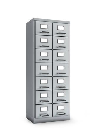 Cabinet documents. 3D illustration