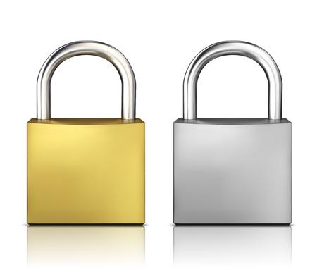 metal closed lock isolated