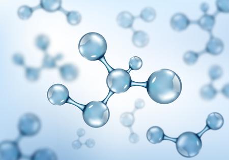 Conception abstraite de molécules. Illustration vectorielle