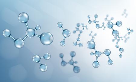 Abstract molecules design. Vector illustration Vectores