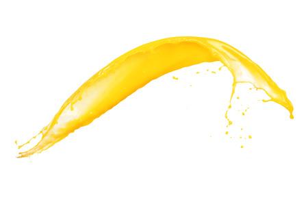 Juicy orange splash isolated on white background