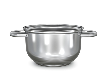 realistic metal saucepan. 3d illustration 版權商用圖片