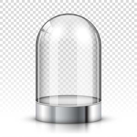 Cúpula de vidrio vacía