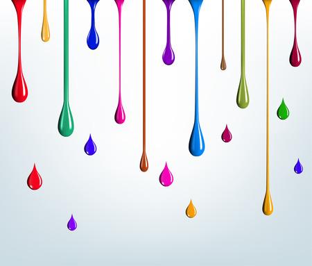 multicolored paint drips Vettoriali
