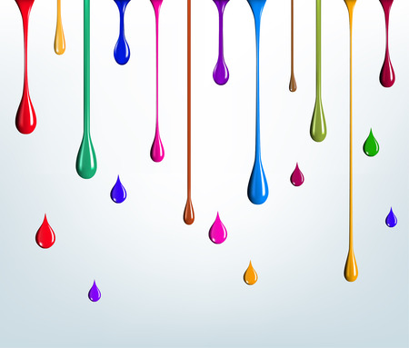 multicolored paint drips Vectores