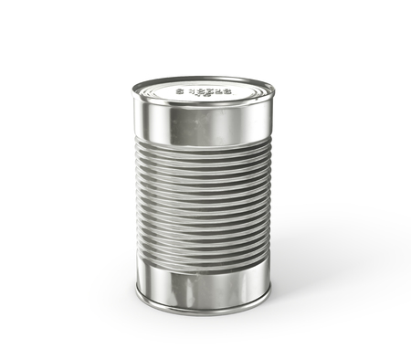 tincan: Tin can isolated on a white. 3d illustration