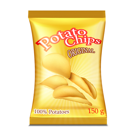 A packet of chips