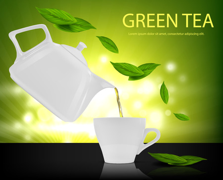 緑茶を一杯飲む