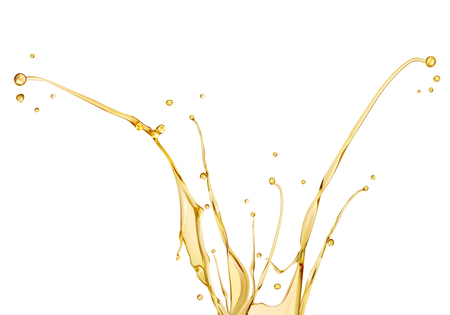 oil splashing isolated on white background Illustration