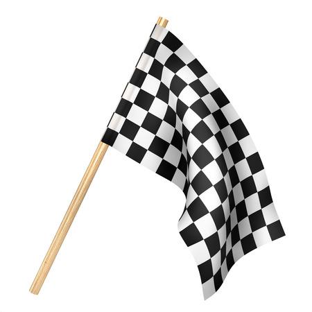 Finish flag isolated on a white. 3d illustration Stock Photo