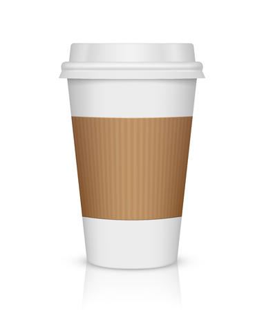 Paper coffee cup isolated on white Illustration