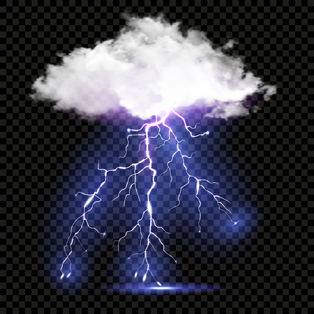 Realistic vector cloud and lightnings