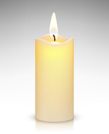 Realistic burning candle Illustration