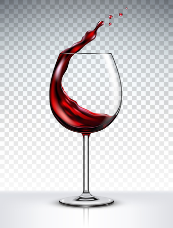 Red wine splashing out of a glass 版權商用圖片 - 94990089