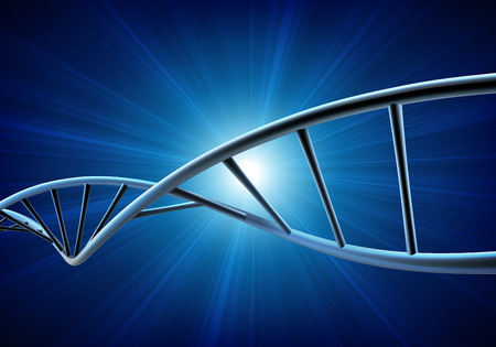 Vector illustration of a DNA model