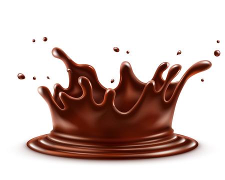 Chocolate splash isolated on a white background