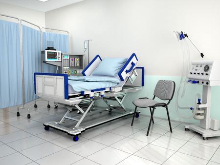 The interior of the hospital room. 3d illustration Archivio Fotografico