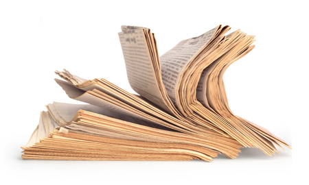Stack of the newspaper texture mock-up