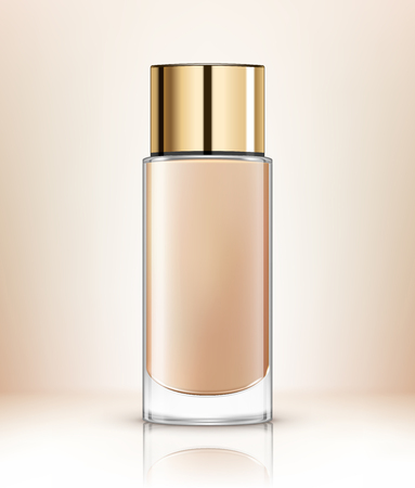 Vector illustration of foundation cosmetic container