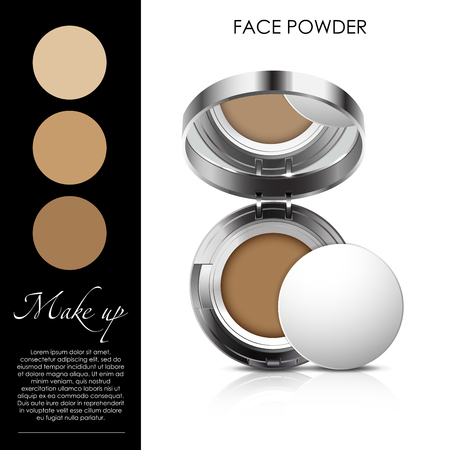 cosmetic powder vector illustration