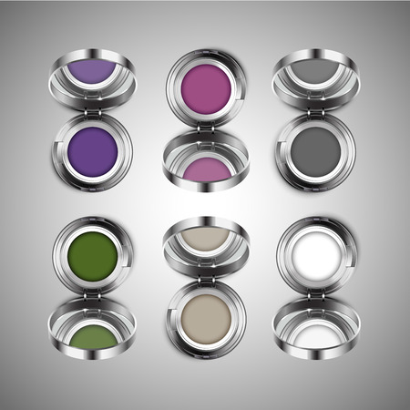 eye shadow set  isolated vector illustration Иллюстрация