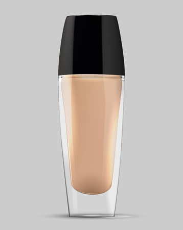 make-up cream foundation bottle vector