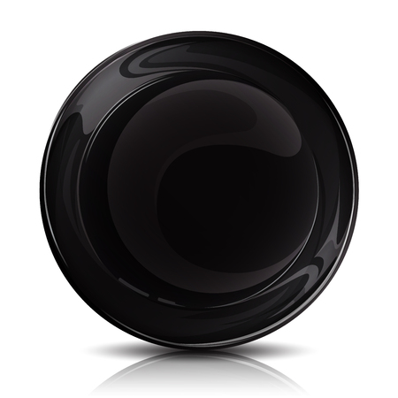 Mock-up Black Plate _front Vectores