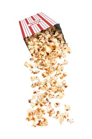 Folling popcorn in a stripped bag